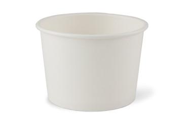 Witte soepkom/ ijsbeker, PLA coating 16 oz (450ml)
