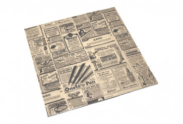 Vetvrij kraft papier, vierkant, TIMES 31 x 31 cm