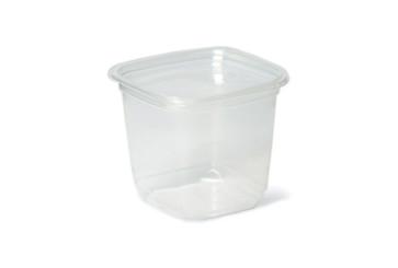 Saladebak vierkant PLA, 600 - 700ml