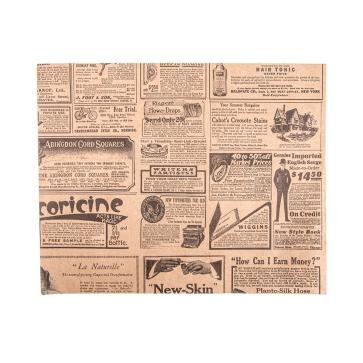 Vetvrij kraft papier, rechthoekig, klein, TIMES 20 x 25 cm