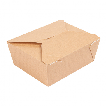 Lunchdoos klein-1350 ml/45 oz, kraft, PREMIUM
