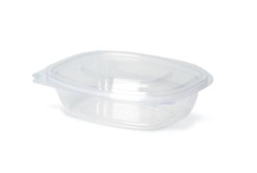 Saladebak met deksel PLA, 375ml