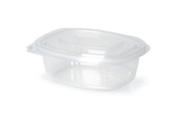 Saladebak met deksel PLA, 750ml