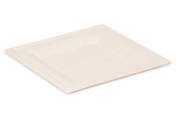 Vierkant bord natural 26 cm
