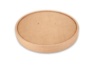 Papieren deksel saladebak klein  / Poké bowl kraft - nature 15cm