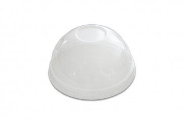 Transparante deksel bol (PLA) zonder gat t.b.v. kom 8 - 10oz