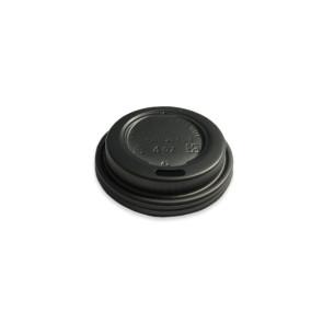 Deksel zwart CPLA t.b.v. koffiebeker 4oz / 120ml
