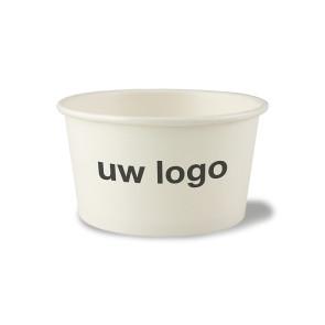 Witte soepkom/ ijsbeker, PLA coating 12 oz (360ml) | EB