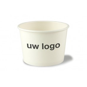 Witte soepkom/ ijsbeker, PLA coating 16 oz (450ml) | EB