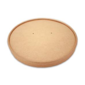 Papieren deksel salad / Poké bowl kraft - nature 18,4cm