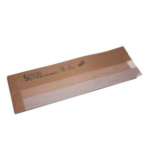 Baguette zakje met papieren venster