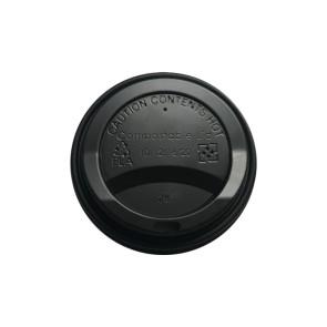 Deksel zwart (PLA) voor 10-12-16oz / 300-360-480ml (koffie)beker