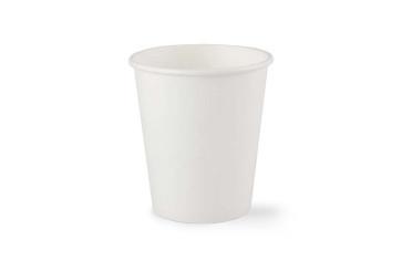 Weißer Kaffeebecher, PLA beschichtet 210ml/7oz.