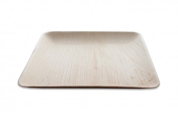 Palmblatt Teller quadratisch 25cm