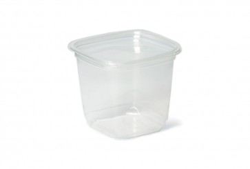 Salatschale quadratisch PLA, 600 - 700ml
