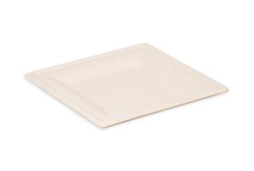 Quadratischer Teller natural 20 cm