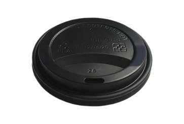 Deckel schwarz (PLA) für 300-360-480ml/ 10-12-16oz Becher