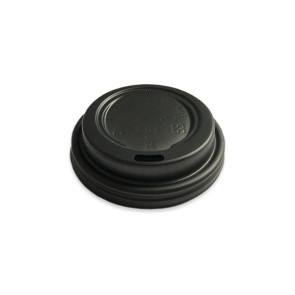 Deckel schwarz für Kaffeebecher 7oz/210ml.