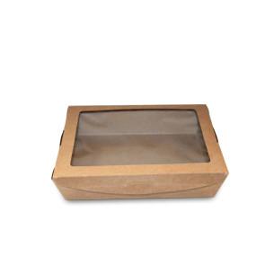 Lunchbox mit Fenster 1100ml, kraft