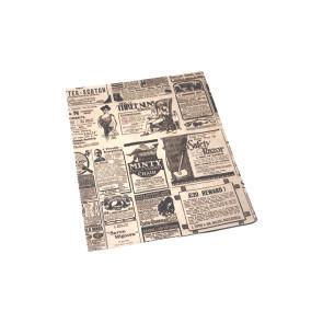 Burger-Papier,  fettabweisendes Kraftpapier, TIMES 28x34 cm