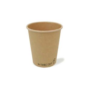 Brauner Kraft-Kaffeebecher, PLA beschichtet 240ml/8oz.