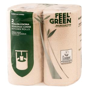 Küchenrolle, recycelt, Umweltzeichen, Feel Green