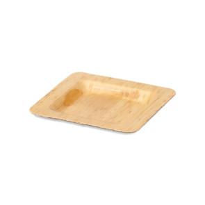Assiette en bambou 12 x 12 cm