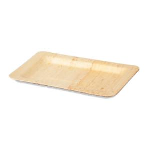 Assiette en bambou 20 x 14 cm