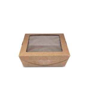 Boîte à déjeuner en kraft avec fenêtre, 650ml