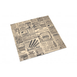 Papier kraft ingraissable, carré, TEMPS 31 x 31 cm