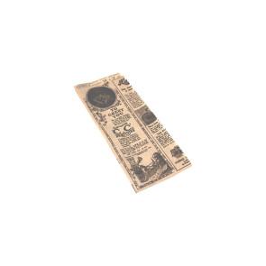 Sac à hot-dog, kraft ingraissable, TEMPS 9 +3 cm (soufflet latéral) x 22 cm