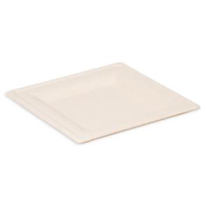 Assiette carrée naturelle 26 cm