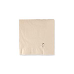 Serviette marron moyenne - double couche