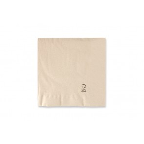 Serviette marron grande - double couche