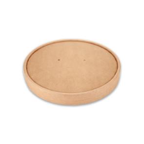 Papieren deksel salad / Poké bowl kraft - nature 15cm