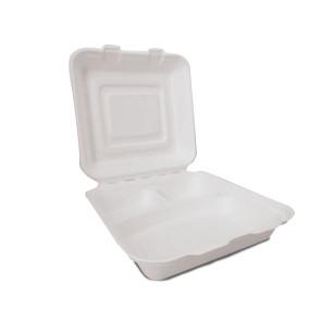 Boîte à menu 3 compartiments avec couvercle grand